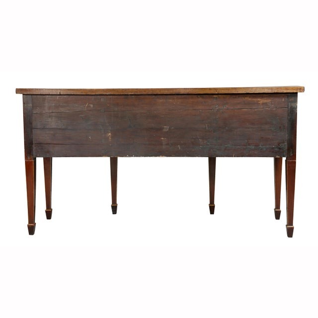 George III Mahogany and Satinwood Sideboard For Sale - Image 11 of 12
