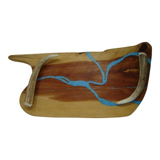 Texas Red Cedar Live Edge Serving Tray For Sale