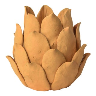 Terracotta Artichoke Candleholder For Sale