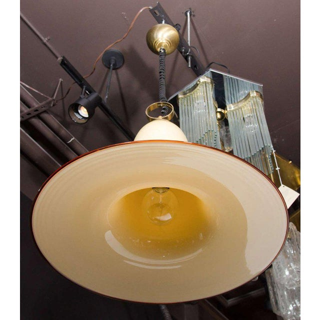 Mid-Century Modern Seguso Large Murano Chandelier With Elongated Bell Form, 1960's For Sale - Image 3 of 10