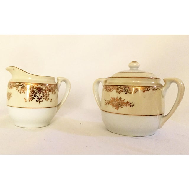 Traditional Noritake Sugar & Creamer With Tray - Set of 3 For Sale - Image 3 of 6
