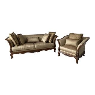 Regency House Siena Sofa & Chair - A Pair For Sale