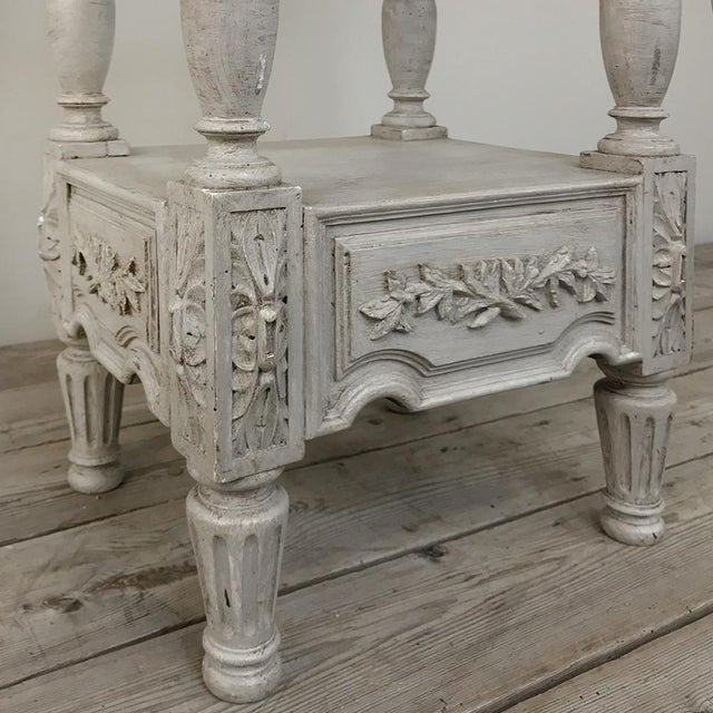 19th Century French Louis XVI Painted Pedestal For Sale - Image 9 of 13