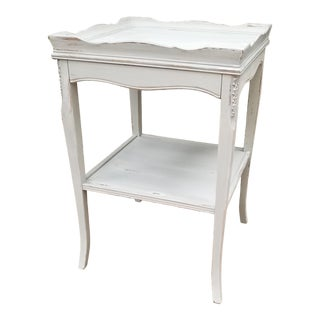 Antique Painted Mahogany Side Table For Sale