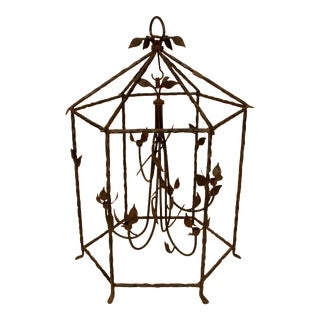 Large Iron Foliate Lantern Unelectrified For Sale