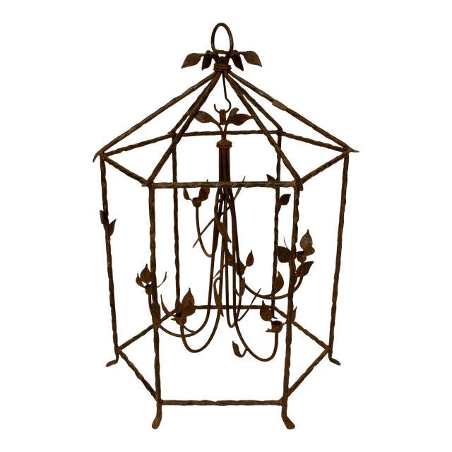 Large Iron Foliate Lantern Unelectrified For Sale