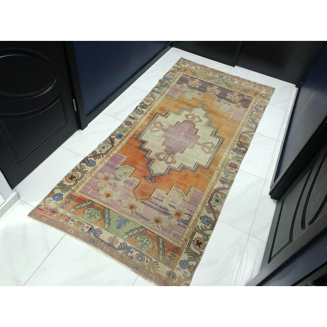 Handmade wool carpet in Turkish Antique Anatolian Rug, Handmade Wool Rug. One Of Kind with perfect design and colors.
