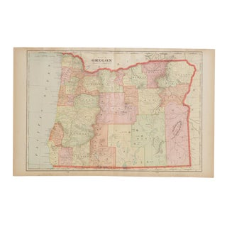 Cram's 1907 Map of Oregon For Sale