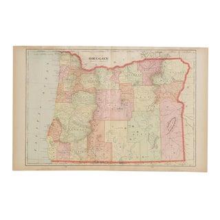 Cram's 1907 Map of Oregon
