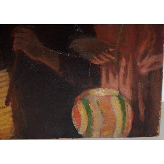 Jacob Weinles Original Oil Painting C.1920 For Sale - Image 4 of 8
