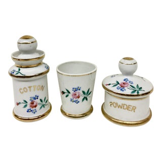 Porcelain Vanity Set - Set of 3 For Sale