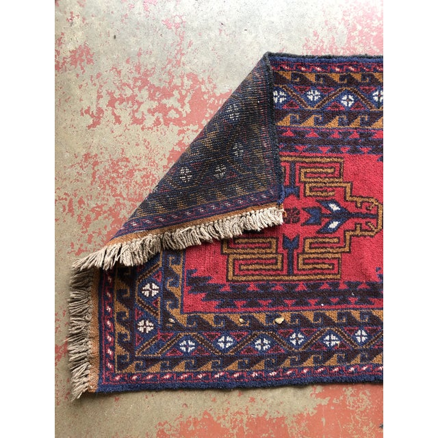 Textile Antique Handmade Tribal Rug For Sale - Image 7 of 9