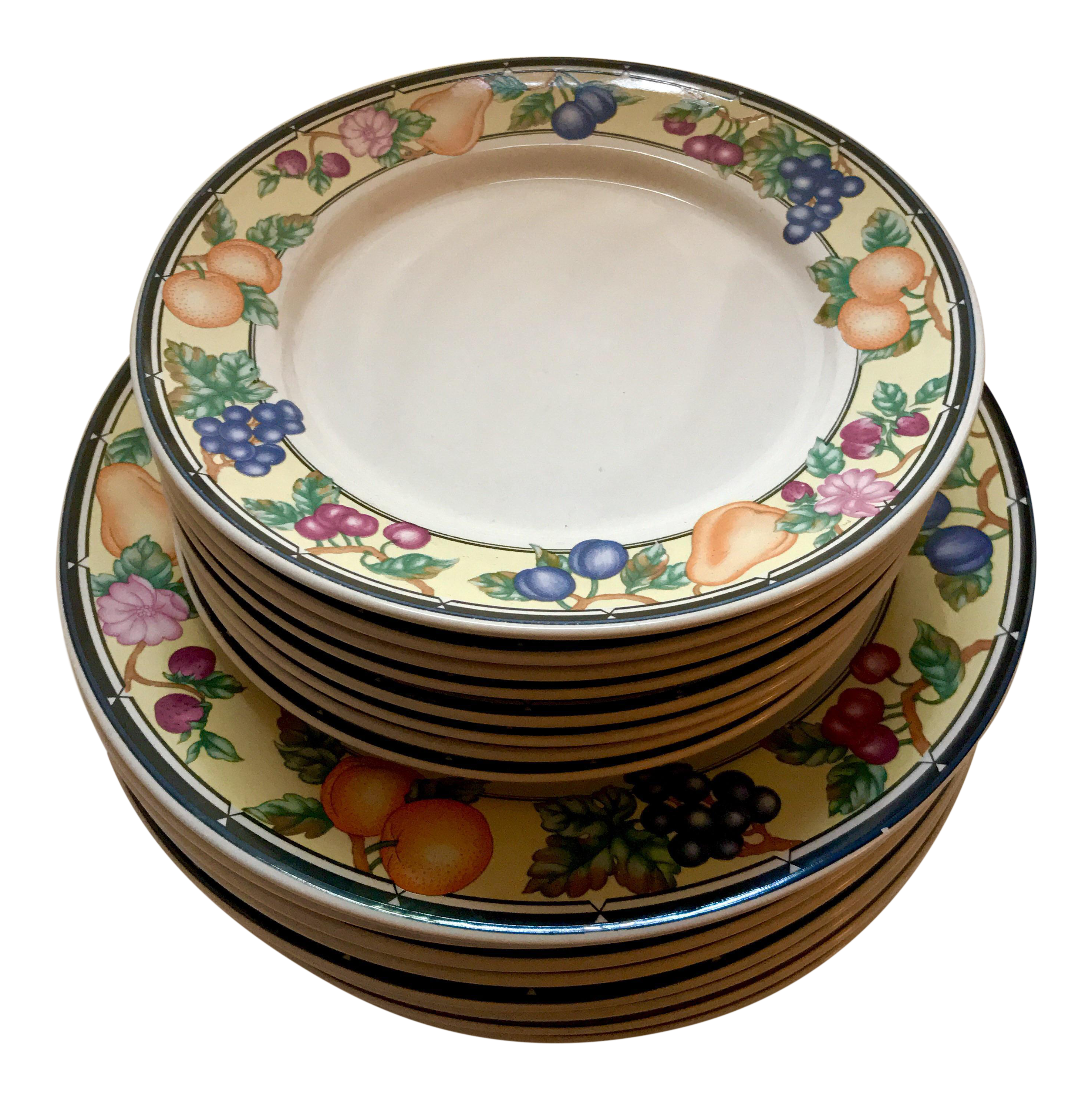 Oneida Orchard Select Dinner Plates u0026 Salad Plates - Set of 16  sc 1 st  Chairish : plates set of 16 - pezcame.com