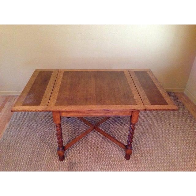 Carved English Oak Drop Leaf Dining Set Chairish