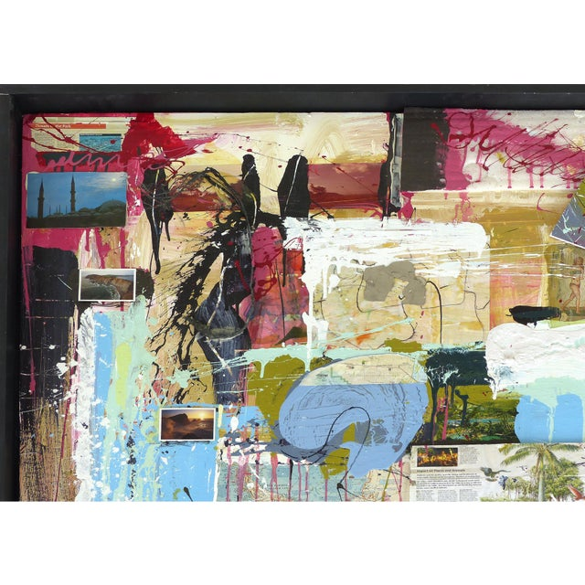 """William P. Montgomery Abstract Mixed Media Painting """"Swamp Talk 1/2"""", 2015 For Sale - Image 10 of 13"""