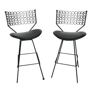 1960s Arthur Umanoff Bar Stools- A Pair For Sale