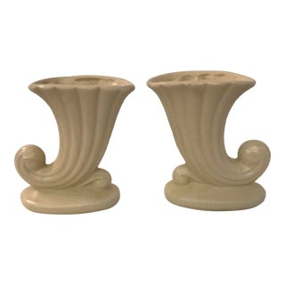 Vintage Neoclassical Ceramic Planters - a Pair For Sale