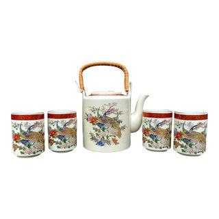 Satsuma Teapot & Cups - 6 Piece Set For Sale