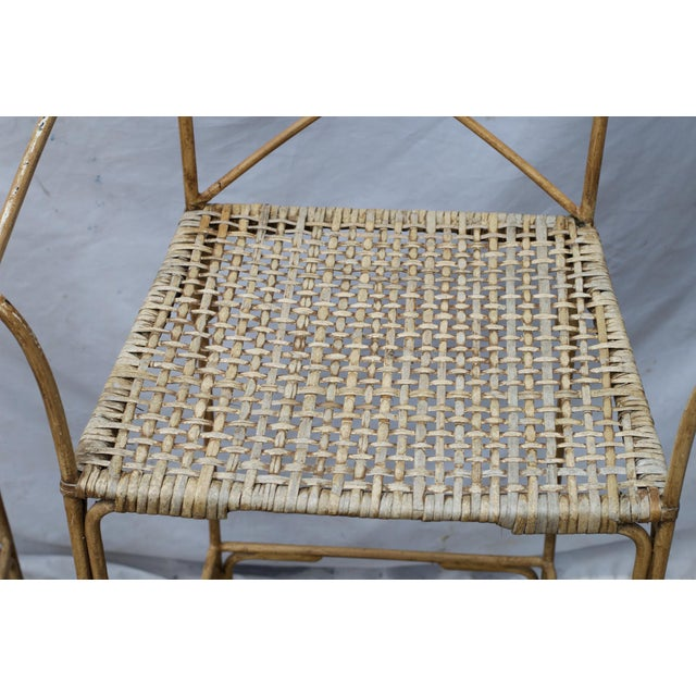 Neoclassical Styled Metal Bar Stools, Pair For Sale - Image 11 of 13