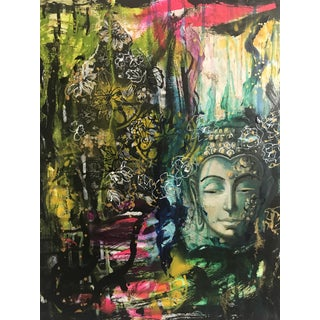 """Buddha in Loving Kindness"" Multi Media Artwork For Sale"