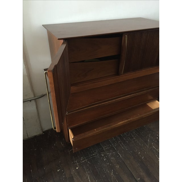 Mid Century Walnut Tall-Boy Chest - Image 6 of 9