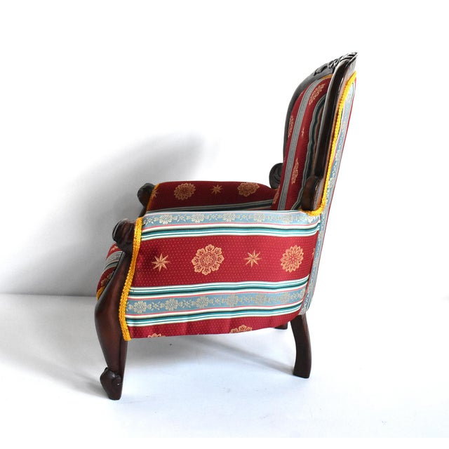 Antique Victorian-Style Upholstered Child's Chair For Sale In San Francisco - Image 6 of 11