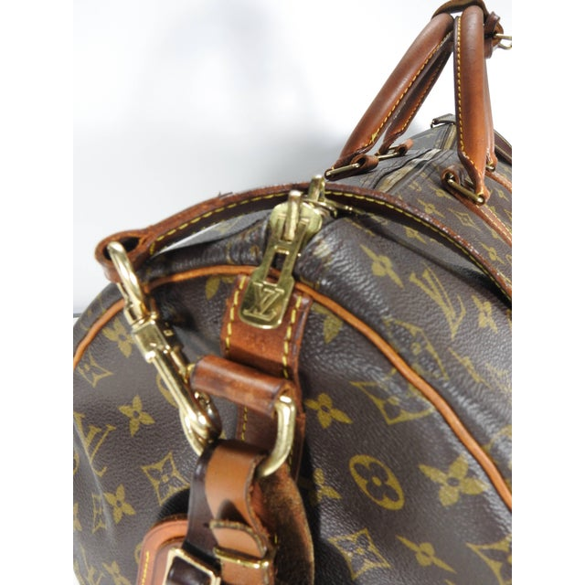 093605ee1 Modern Louis Vuitton Classic Keepall Leather Monogram Travel Bag For Sale -  Image 3 of 11