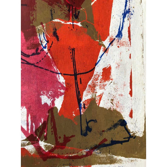 Paper 1970s Abstract Screenprint For Sale - Image 7 of 8