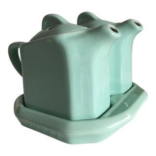 Moving Sale - Mid-Century Mint Restaurantware Hall Twin Teapots - a Pair