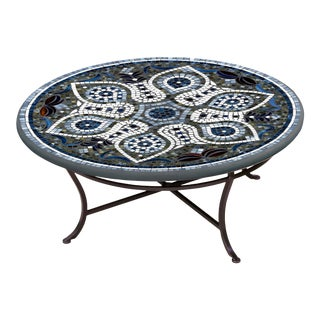 """Grigio 36"""" Coffee Table with Black Base For Sale"""