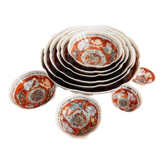 Eggshell Porcelain Nesting Bowls - Set of 10 For Sale