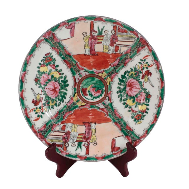 Chinese Porcelain Famille Rose Medallion Dishes, Service for 7 For Sale - Image 4 of 10