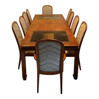 1980s Century Furniture 'Chin Hua' Dining Table & 10 Chairs For Sale