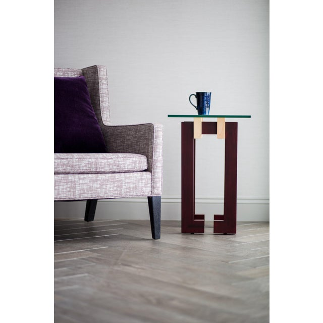 Modern Ant Walnut Maple Coffee & Side Tables - Set 3 - Image 8 of 9