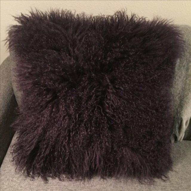 Mongolian Fur Pillow For Sale In Portland, OR - Image 6 of 6