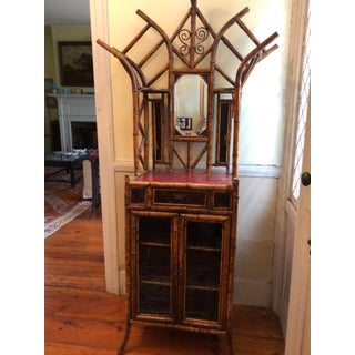 19th Victorian Bamboo & Japanned Lacquer Hall Stand Cabinet Preview