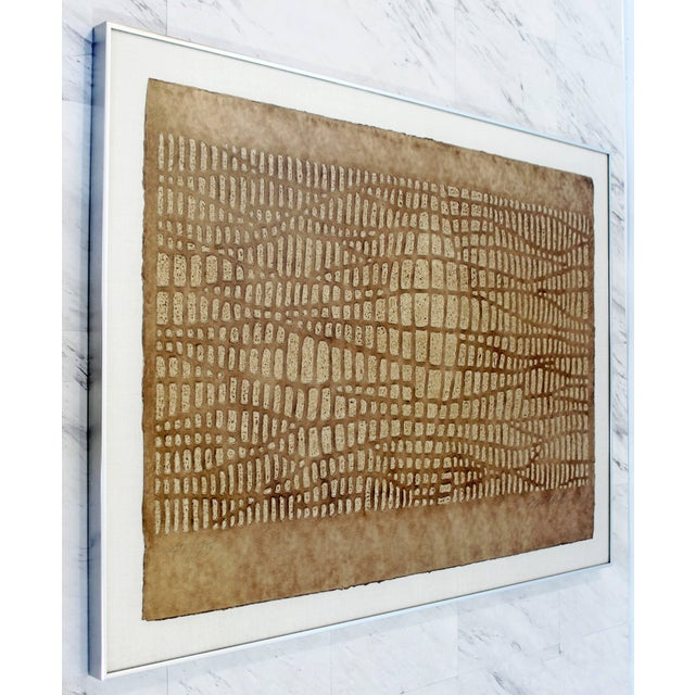For your consideration is a framed, textured print, signed and numbered by Paul Maxwell, 47/75. In excellent condition....