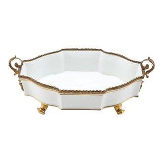 Limoges White Porcelain Centerpiece