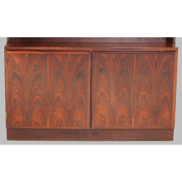 1960s Gunni Omann Refinished Danish Rosewood Shelving Unit by Omann Jun For Sale - Image 5 of 7