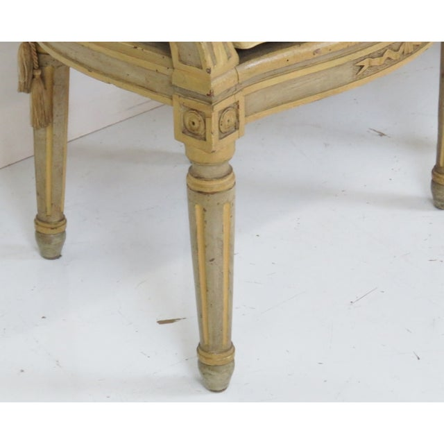 Antique Louis XVI Style Caned Fauteuils - Pair - Image 2 of 7