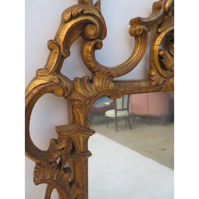Italian Reticulated Gold Gilt Carved Mirror For Sale - Image 4 of 5