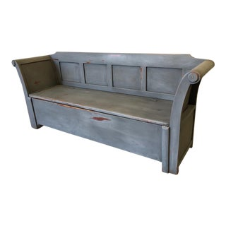 19th C. Swedish Antique Painted Bench