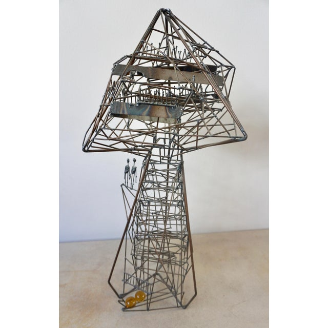 Black Abstact Wire Sculpture by Guy Pullen For Sale - Image 8 of 9