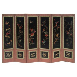 Chinese Antique Four Seasons Embroidery Display For Sale