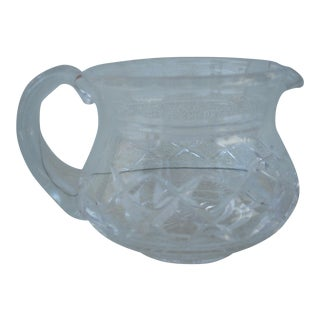 Stuart Crystal Cream Pitcher For Sale