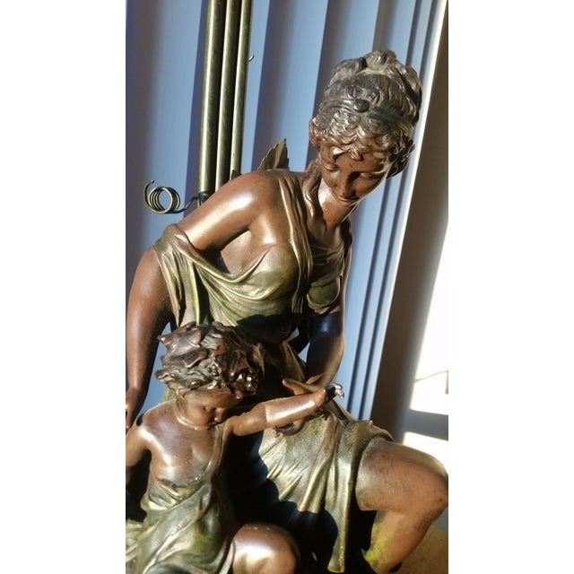 Figural Nymph and Cherub Lamp by Art De France - Image 6 of 8
