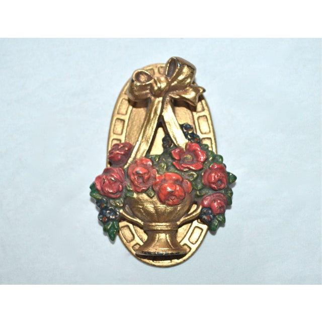 Hubley Flower Basket Door Knocker - Image 5 of 8