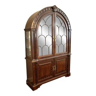 Traditional Bernhardt Grand Savannah Collection Arched Lighted China Cabinet/Reduced