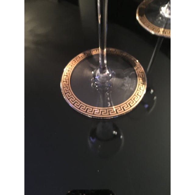 Gianni Versace Rosenthal 1993 Medusa d'Or Wine Glasses - A Pair - Image 4 of 4