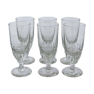Antique French Absinthe Glasses, S/6 For Sale
